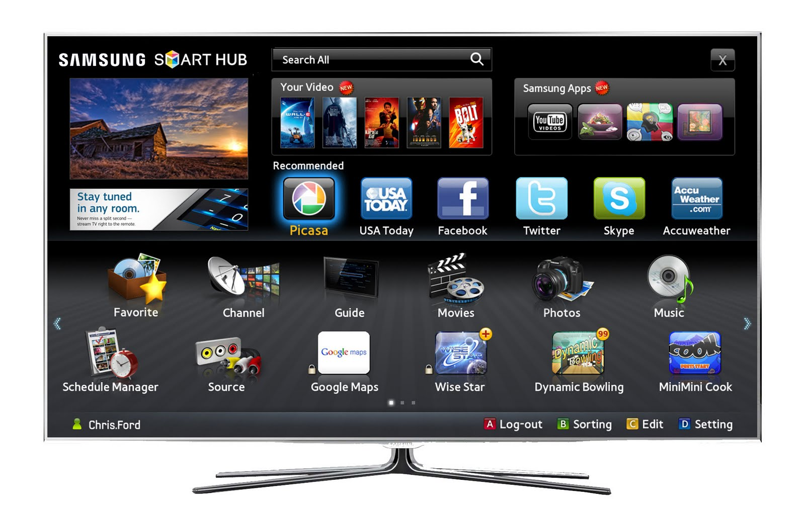 smart tv samsung. Black Bedroom Furniture Sets. Home Design Ideas