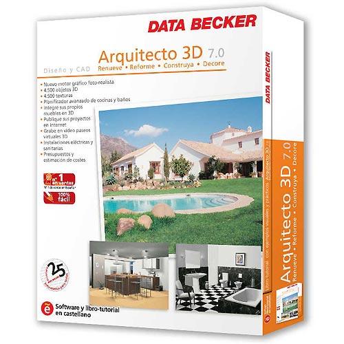 Saca el arquitecto que llevas dentro con arquitecto 3d 7 0 for Diseno de interiores 3d data becker