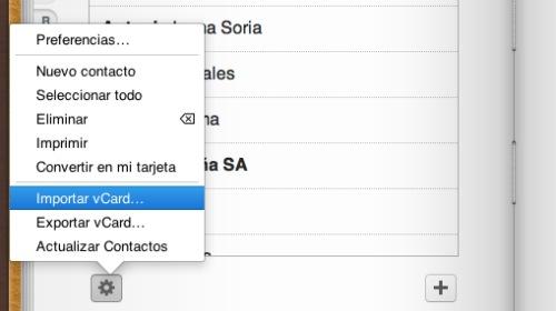 iCloud exportar contactos