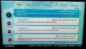 Twitter en Smart TV Samsung