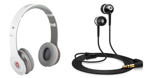 Auriculares Beats y Sennheiser