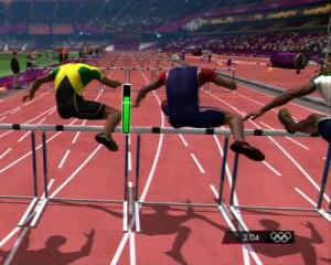 Captura de pantalla del videojuego Londres 2012 de SEGA