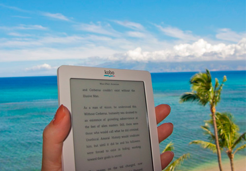 Foto de eBook en la playa