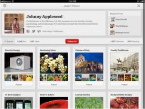 Pinterest versión iPad