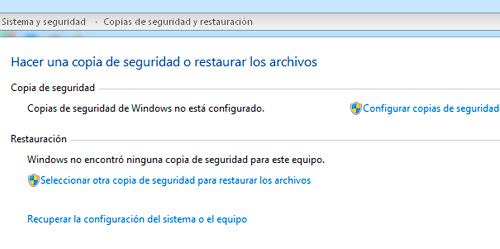 Windows Copia de Seguridad