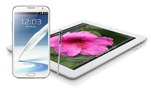 Samsung Galaxy Note iI iPad