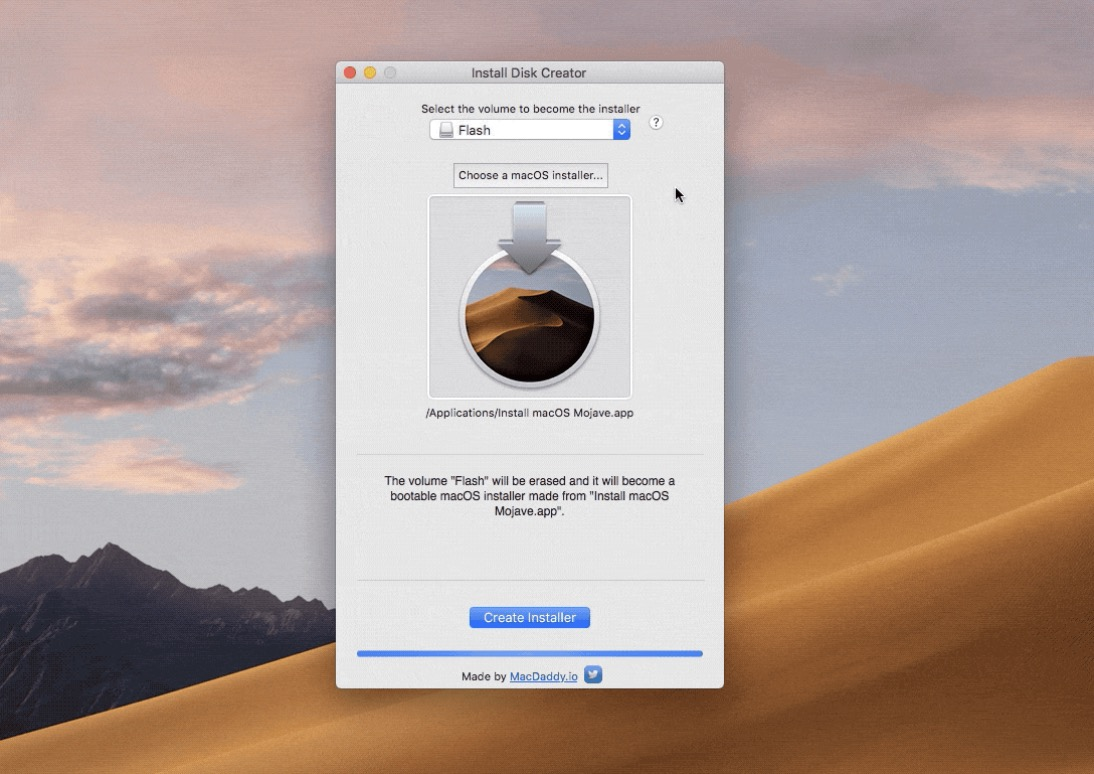 install disk creator pendrive macos