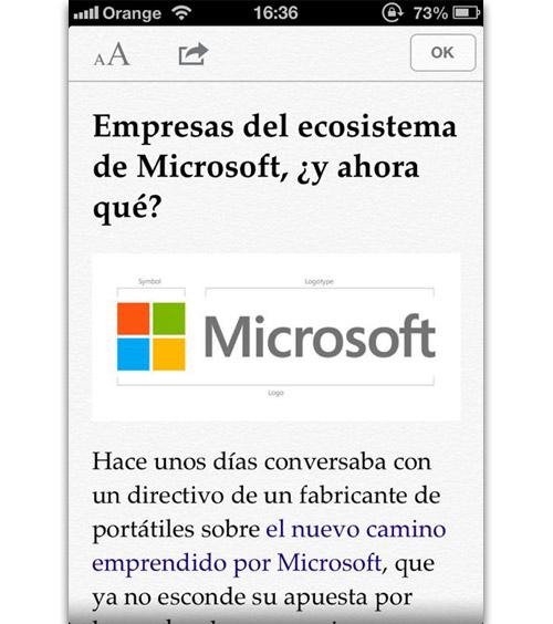Lectura en iOS