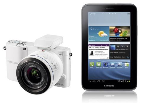Samsung NX1000 y Samsung galaxy Tab 2