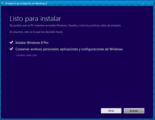 Paso 4 Windows 8