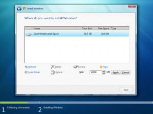 Partición Windows