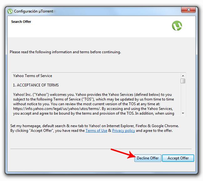 Quitar publicidad de BitTorrent y µTorrent