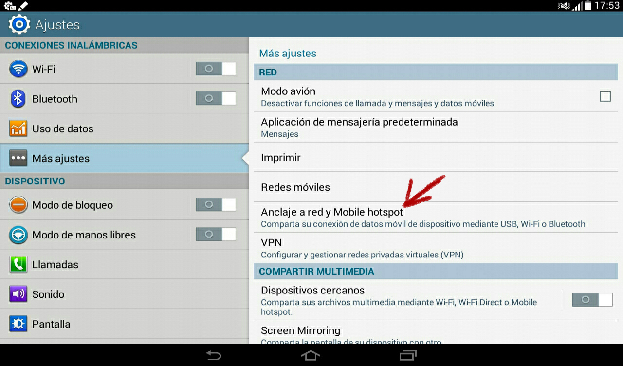 tablet android hotspot 2