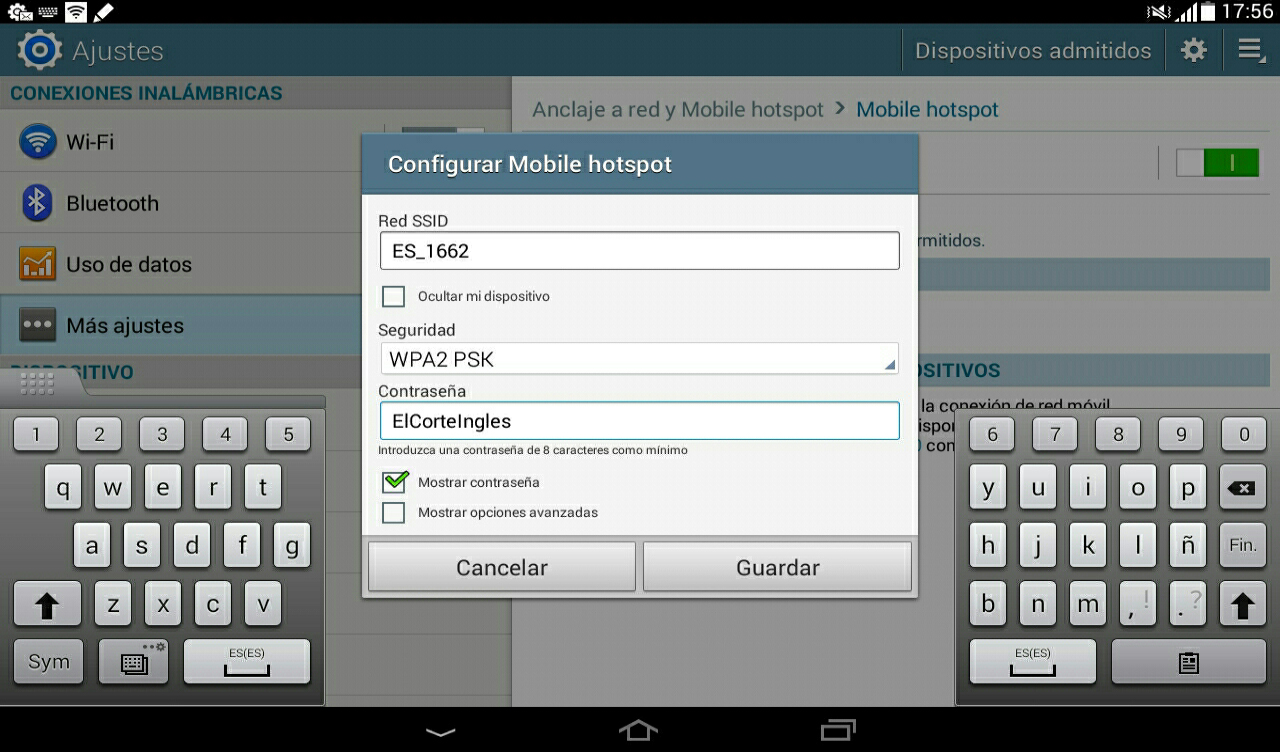 tablet android hotspot 4