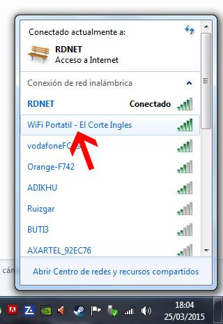 wifi ordenador hotspot