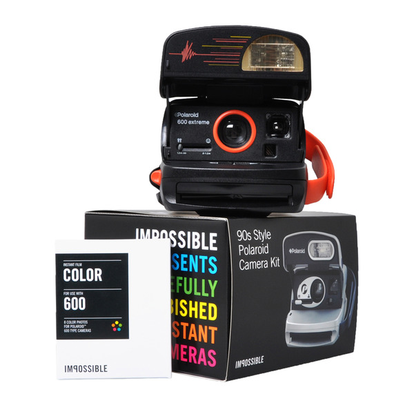 Cámara Polaroid 600 90's - pack regalo