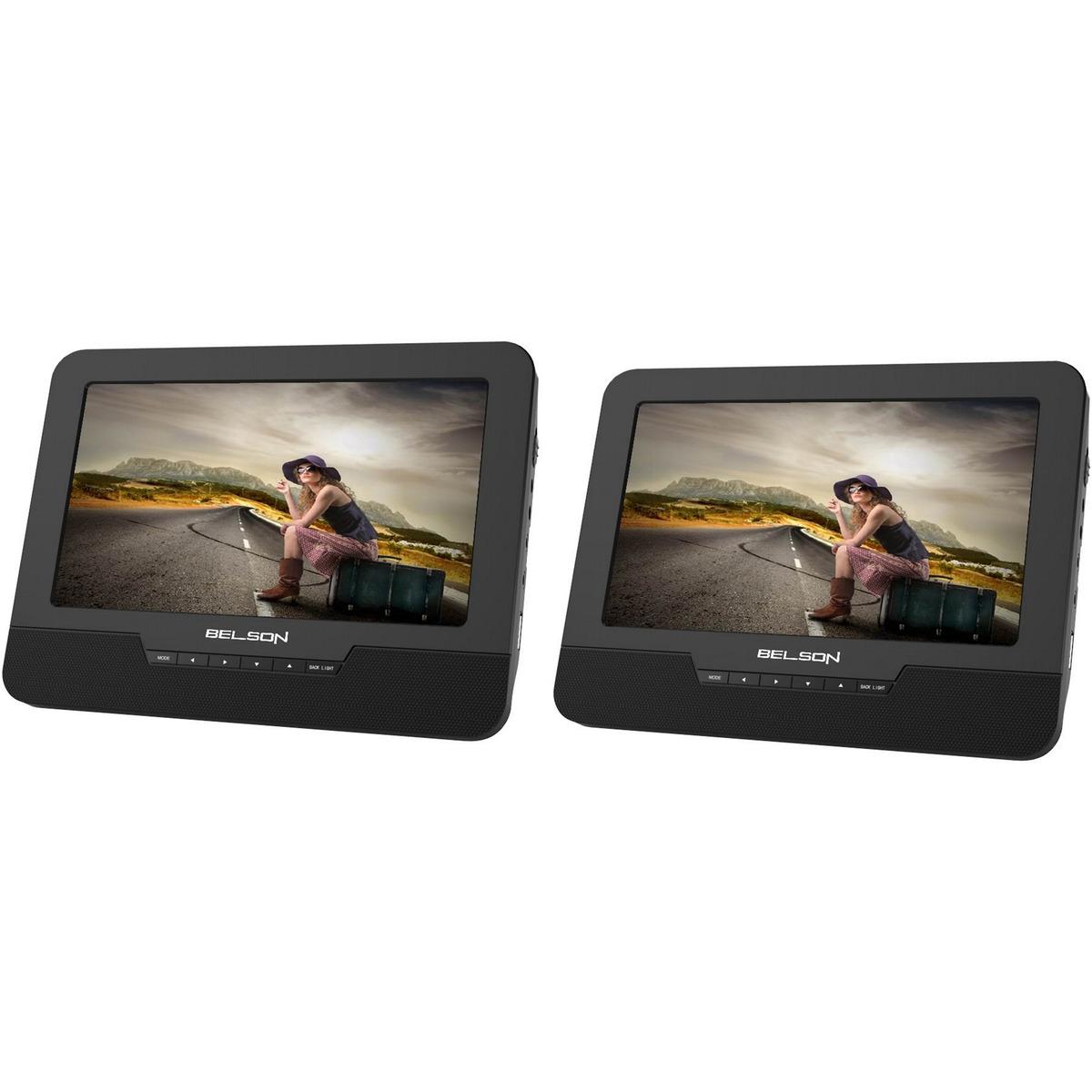 DVD portátil Belson Dual 91 9'' con USB y lector Tarjetas SD
