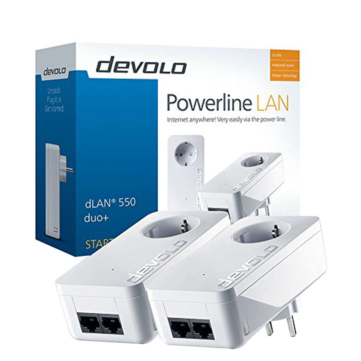 Kit de 2 adaptadores PLC Devolo dLAN 550 duo+ Starter Kit