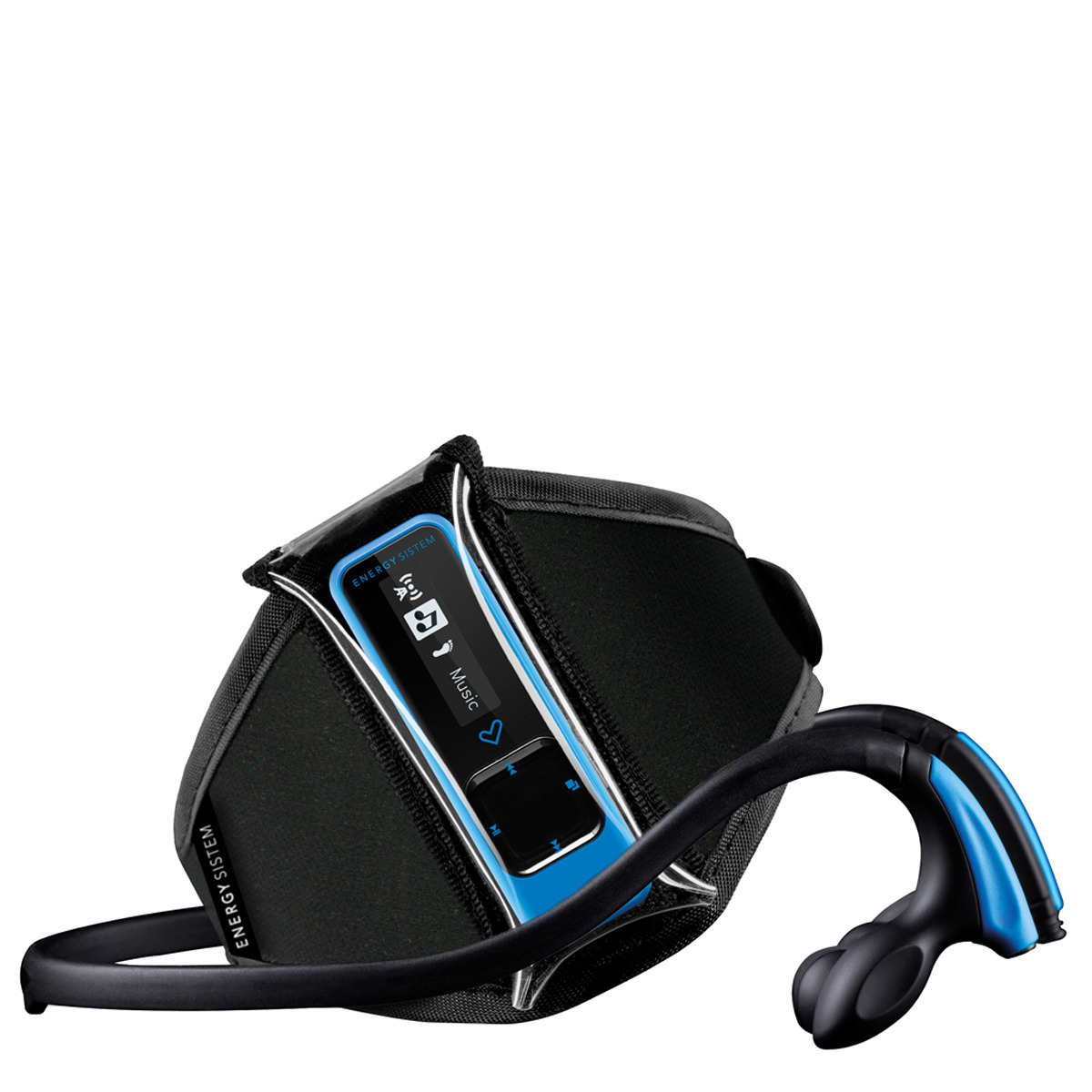 Reproductor MP3 Energy Sistem Running 3 Neon Blue de 8 GB con podómetro y Radio FM