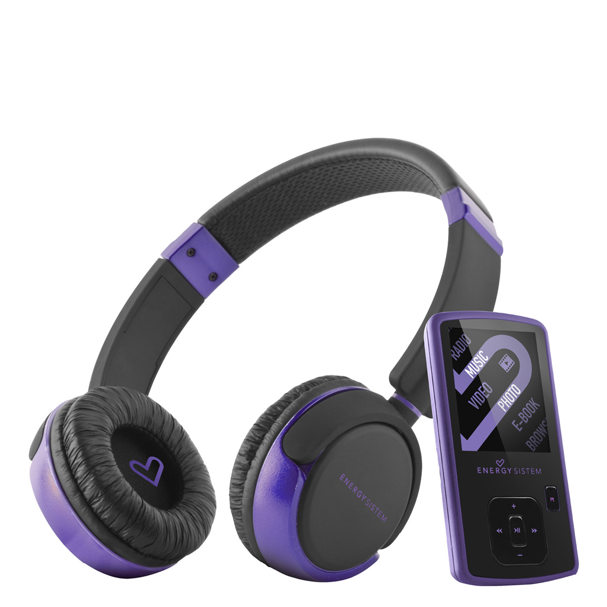 Reproductor MP4 Energy Sistem DJ 2 Violet Dream de 4 GB con radio FM y LCD 1,8''