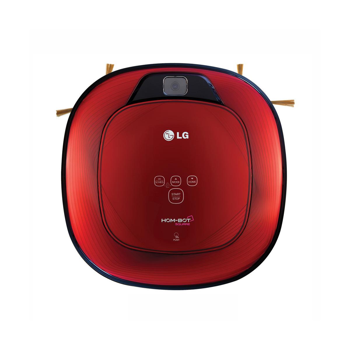 Robot aspirador LG Hombot cuadrado VR6270LVMB con sistema de alerta de voz