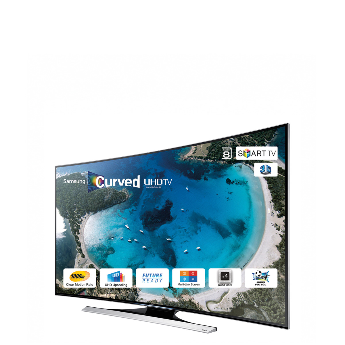 TV LED curvo 65'' Samsung UE65HU8200 UHD 4K 3D, 4 HDMI, Wi-Fi y Smart TV