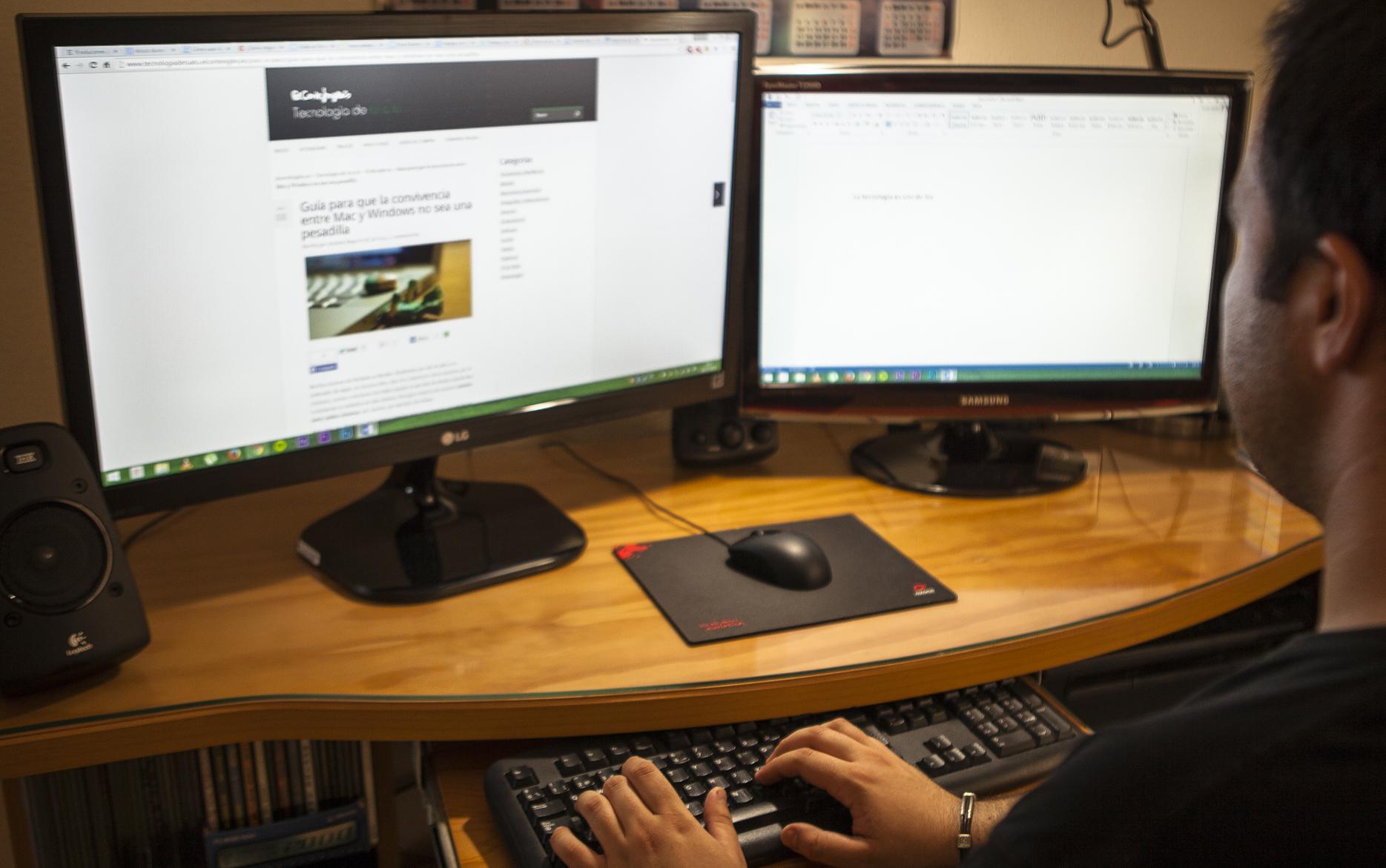 Usar dos monitores con un único ordenador: cómo conseguirlo