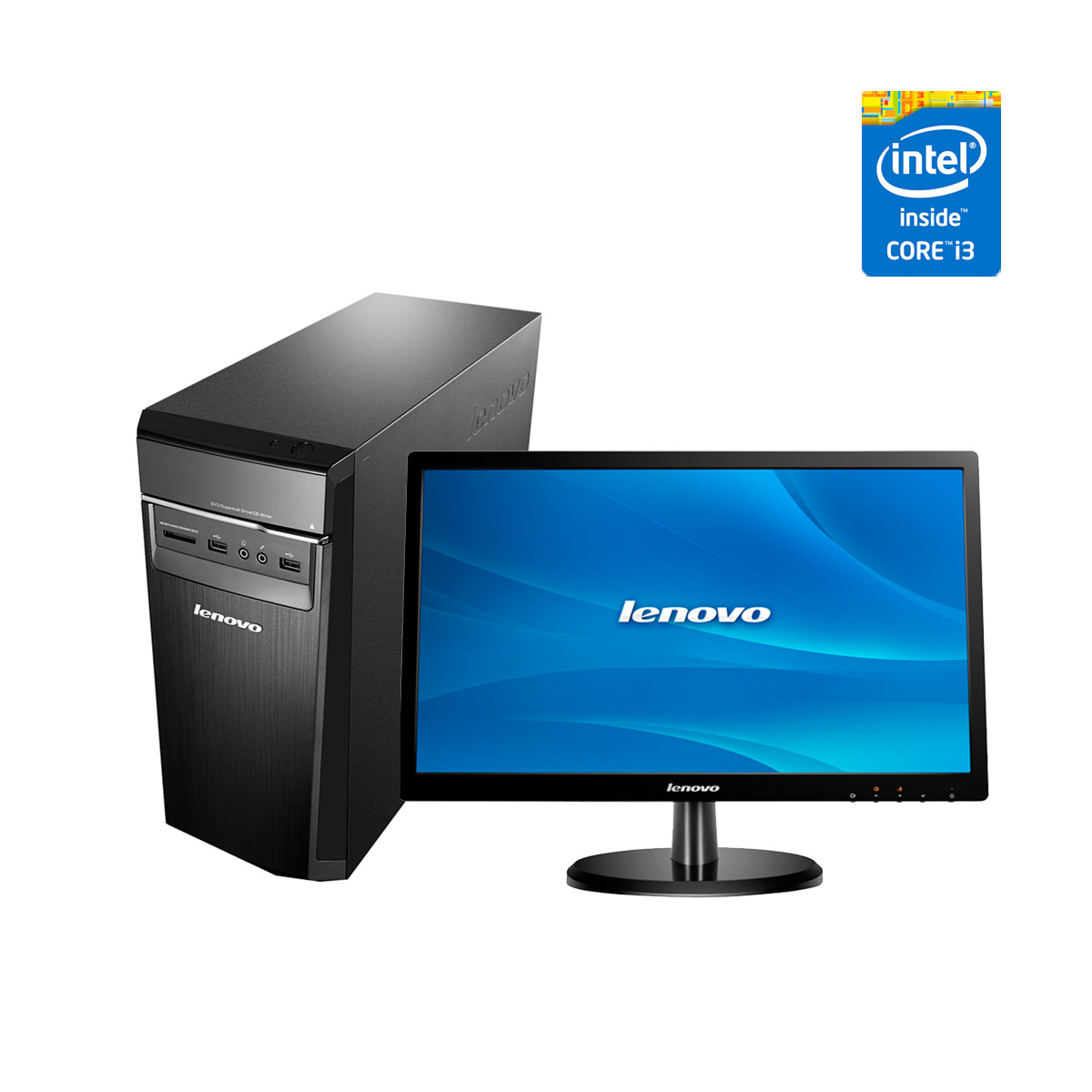 Ordenador sobremesa Lenovo H50-50 Intel Core i3-4160 con monitor