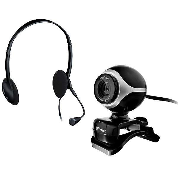 Pack Webcam + Auriculares Trust Exis