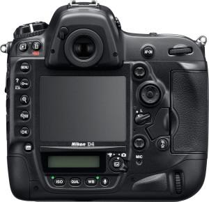 Nikon D4 trasera