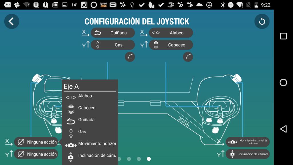 configuracion sky controller