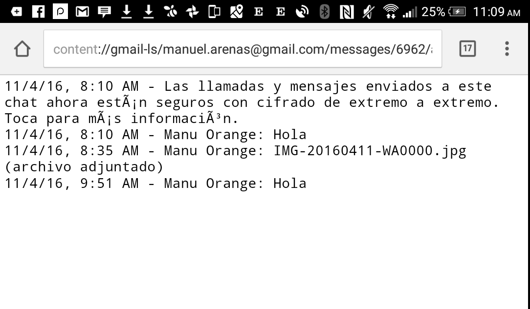 chat en el mail