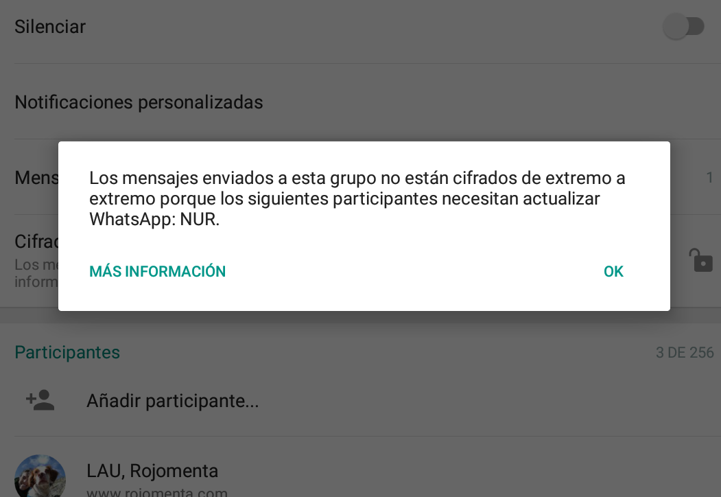 chats sin actualizar