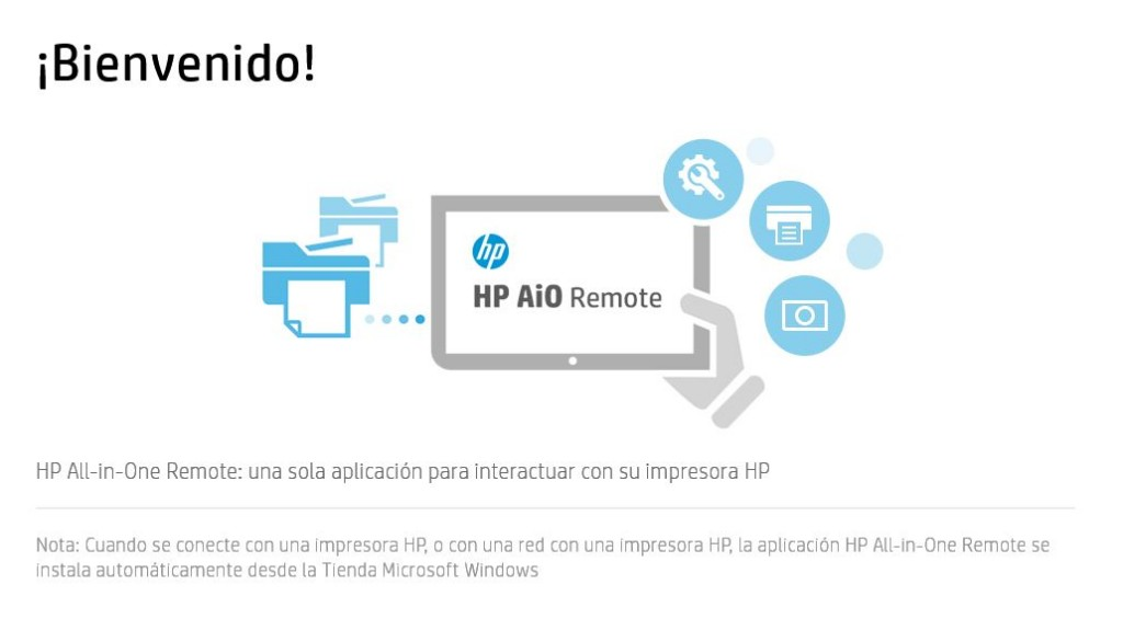 hp aio printer remote