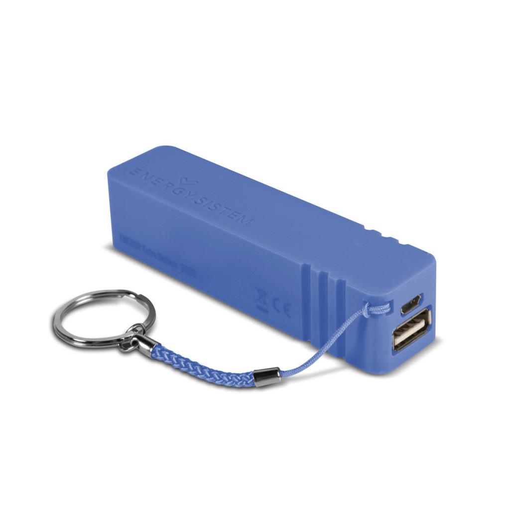 Batería externa Energy Sistem 2200 Neon Blue para dispositivos portátiles con icro USB