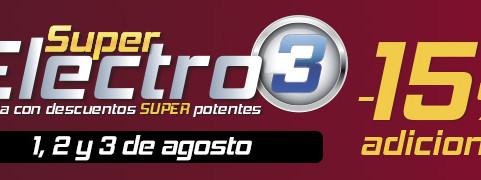 Super Electro 3: suma a las rebajas un descuento adicional del 15% en una selección de productos