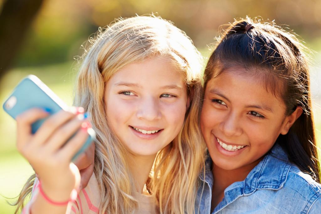selfie niñas