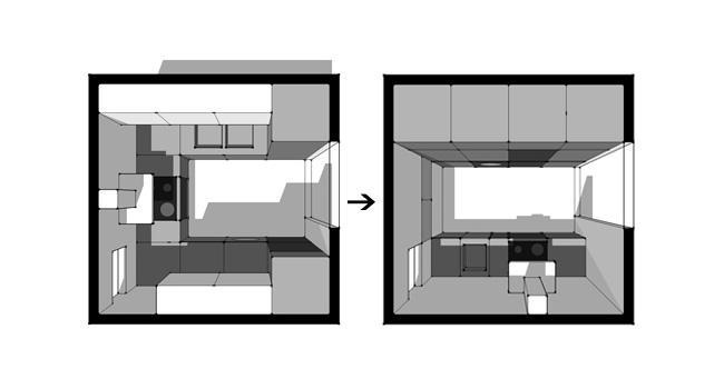 Solución para una cocina pequeña