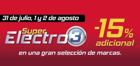Super Electro 3: descuentos adicionales de hasta el 15% en toda la gama de electrónica