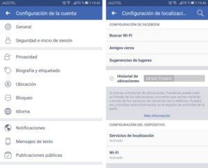 facebook servicios de localizacion