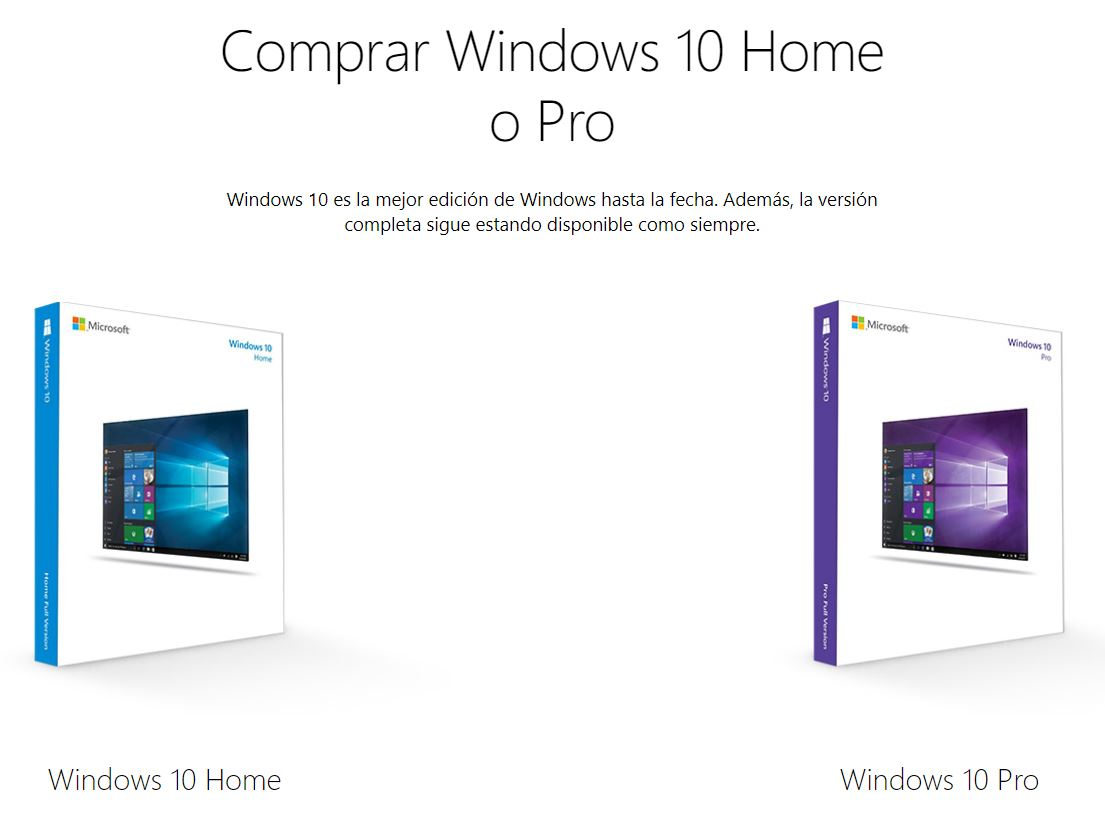 Versiones de Windows 10