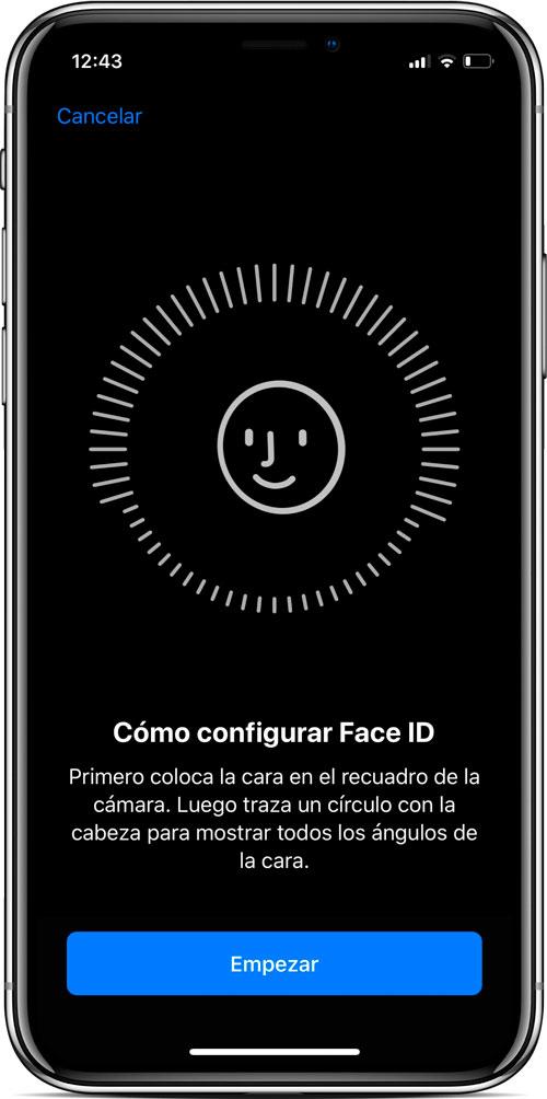 Face ID en el iPhone X