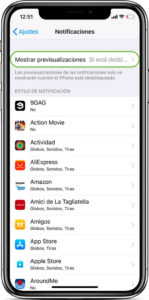 Ocultar noticficaciones iPhone X