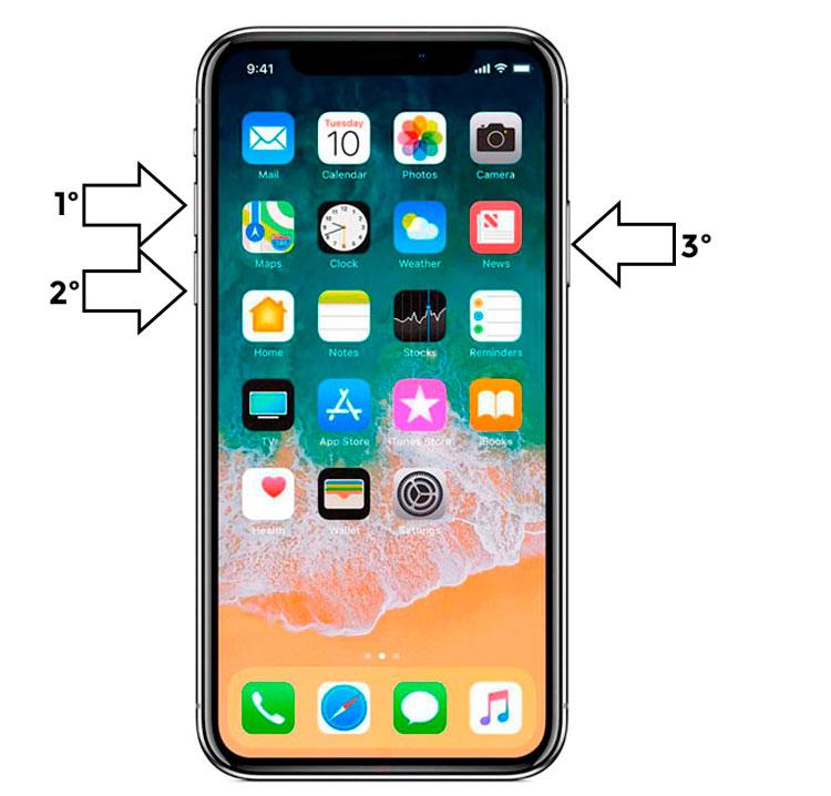 resetear iPhone x