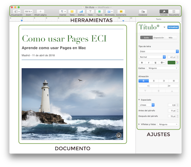 utilizar Pages Mac
