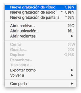 grabar pantalla del iPhone en Mac