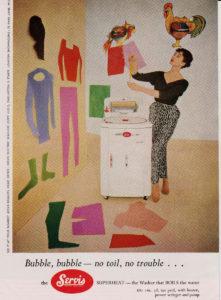 Publicidad de lavadora 1950