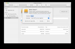 Borrar disco duro en Mac