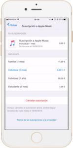 Cómo compartir Apple Music en familia cambiar suscripcion