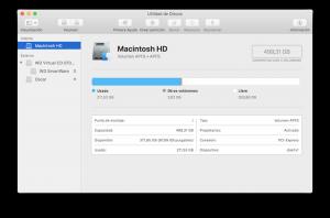 Utilidad de discos macOS